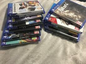 PS4 slim 500gb with 12 games