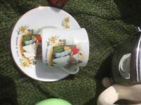 Welsh souvenir saucer and mug