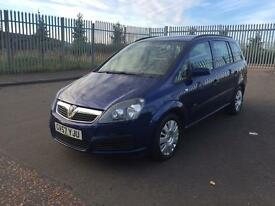 57 2007 VAUXHALL ZAFIRA 1.6 FRESH MOT JAN 2018 SUPERB CONDITION 7 SEATER