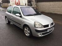 Renault Clio 1.2 16v Dynamique 3dr (GENUINE LOW MILEAGE 48k) (MOT UNTIL JUNE 2018) 2005