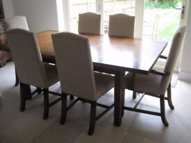 High Quality Light Oak Dining Table and 6 Chairs