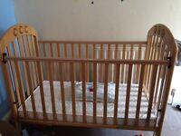 Mamas & papas cot and mattress