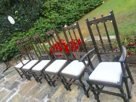 6 beautiful Vintage solid elm Ercol chairs newly upholstered