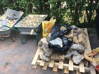 A small amount of hardcore and 19 concrete blocks. Would like collected as soon as possible. Free