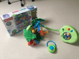 Fisher Price Peek-a-boo leaves musical mobile. As new