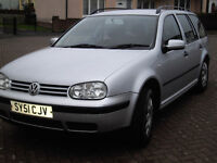 VOLKSWAGEN GOLF ESTATE. Good condition - Recent full service - New Battery New rear spring etc: