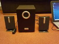 Used, Labtec computer speakers with subwoofer. Good condition. for sale  Wellingborough, Northamptonshire