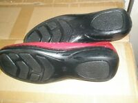 soft red leather shoes
