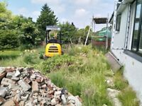 Ground clearing and landscaping services