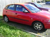 SEAT IBEZA 1.4 DIESEL -NEW MOT-STARTS/ DRIVES NICE-ZERO TAX-FORMER SALVAGE CAR FOR SPARES REPAIRS