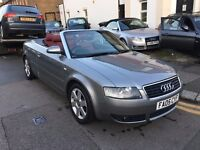 AUDI A4 CABRIOLET CONVERTIBLE 1.8 TURBO RED LEATHER FULL SERVICE HISTORY 2 KEYS HPI CLEAR