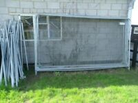Heras security fencing for builders, dogs or poultry