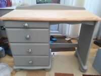 Dressing table -newly refurbished -painted in Laura Ashley Pale French Grey
