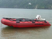 Quicksilver 3.8 Metre Boat with HP Johnson Outboard + road trailer