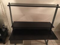 Large wooden Desk & Office Chair