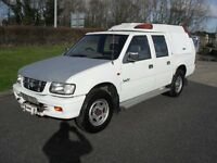 CHEVROLET LUV/VAUXHALL BRAVA DOUBLE CAB 4X4 PICKUP TRUCK 3.1TD IDEAL EXPORT NO VAT