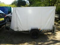 VERY RARE ERDE 8-0 X 4-0 X 4-0 (450KG) COVERED TRAILER.........