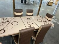 New Flat Packed Dining Table With Chairs Available In Stock Order Now