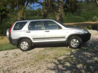 Silver 4WD Honda CRV petrol for sale 120,000 miles, 2 0wners