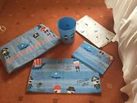 Pirate bedroom set - curtains, bedding and bin