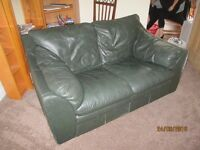 Two seater leather settee - free to collector