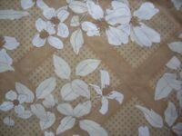 BEIGE AND WHITE PATTERNED DOUBLE QUILT COVER SET ,