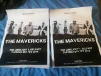 2 Signed Mavericks posters
