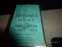 Beyonce Heat Mrs Carter World Tour. Limited Edition 100 mls Perfume. Unopened.BNIB