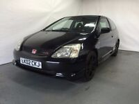 HONDA CIVIC TYPE R, 2002 model long mot black colour mint BARGAIN PRICE TO SELL TODAY