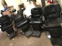 4x Barber chairs
