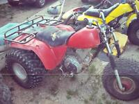 running 1984 200es needs front end work and 84 tri moto