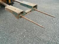 Forklift forks bale spike for silage haylage hay bales etc