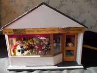 miniature flower shop with contents