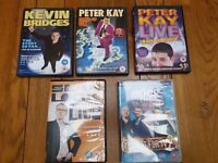 Comedy Set of 5 DVDs - Kevin Bridges, Peter Kaye, Sean Lock, Mock The Week