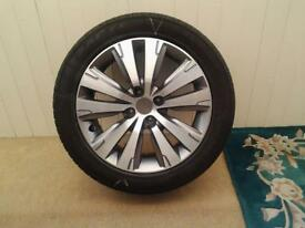 Refurbished peugeot twin spoke 17in silver single alloy wheel x1 fits 2015 onwards £150
