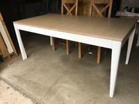 Large oak top & Painted Base new kitchen/dining table