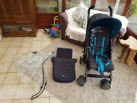 Silver cross pop bear stroller with foot muff and rain cover