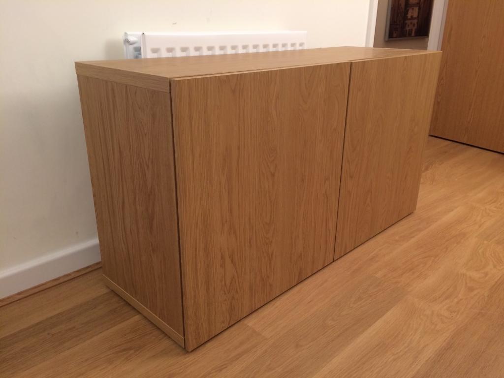 Ikea oak effect storage cabinet
