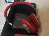 Bowers & Wilkins (B&W) P3 Headphones Red As New