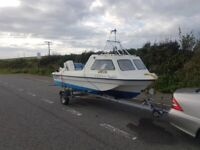 Seahog hunter fishing boat 70hp johnson