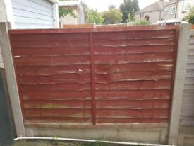 1 to 9 fencing panels, used