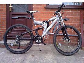 Mountain Bike - Full Suspension, Dual Disc brakes, 21 speed bike - £220 ONO