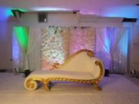 Asian Wedding, Floral Stages, Mehndi Stages & Chair covers for Hire