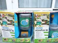 Garden Hozelock Aquapod Watering System. 3 x 5 output pods and Automatic Battery timer