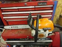 Sthil ms 181 chainsaw 16in bar harly used original chain never been sharpened