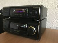 Technics SA-EH60 Stereo Tuner Amplifier Sound Processor System and JVC Speakers 100W