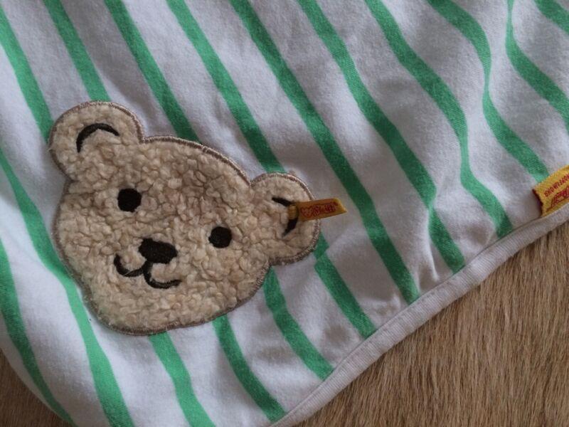 steiff baby decke wei gr n teddy in nordrhein westfalen beckum babyausstattung gebraucht. Black Bedroom Furniture Sets. Home Design Ideas