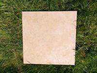 Never used extra ceramic pink floor tiles 33x33cm