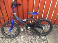 "Blue and black 16"" kids bike"