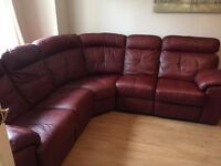 ARGOS Cameron Chestnut Leather Corner Sofa - Immaculate - £900